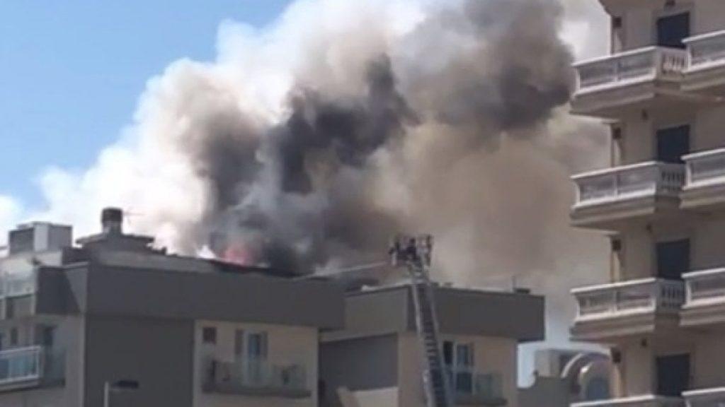hotel in fiamme misano